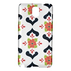 Flower Rose Floral Purple Pink Green Leaf Samsung Galaxy Note 3 N9005 Hardshell Case by Jojostore