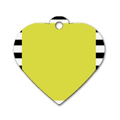 Fun Little Green Wave Dog Tag Heart (one Side)