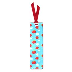 Fruit Red Apple Flower Floral Blue Small Book Marks by Jojostore