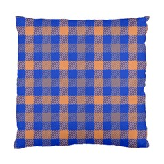 Fabric Colour Blue Orange Standard Cushion Case (one Side) by Jojostore