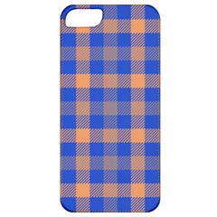 Fabric Colour Blue Orange Apple Iphone 5 Classic Hardshell Case