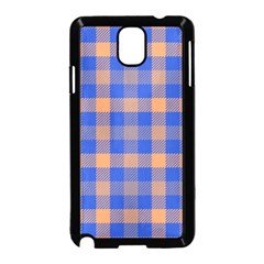 Fabric Colour Blue Orange Samsung Galaxy Note 3 Neo Hardshell Case (black) by Jojostore