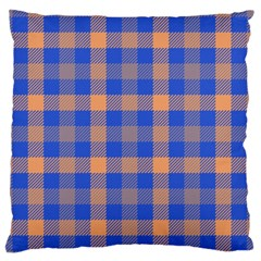 Fabric Colour Blue Orange Standard Flano Cushion Case (one Side) by Jojostore