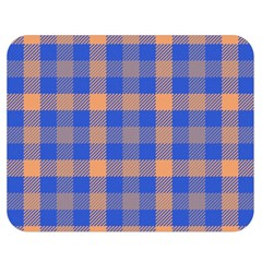 Fabric Colour Blue Orange Double Sided Flano Blanket (medium)