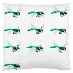 Flying Dragonfly Standard Flano Cushion Case (one Side) by Jojostore
