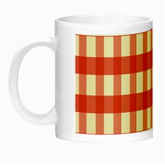 Gingham Red Plaid Night Luminous Mugs by Jojostore