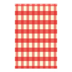 Gingham Red Plaid Shower Curtain 48  X 72  (small)  by Jojostore