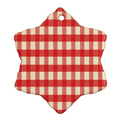 Gingham Red Plaid Ornament (snowflake)
