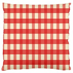 Gingham Red Plaid Large Cushion Case (two Sides) by Jojostore