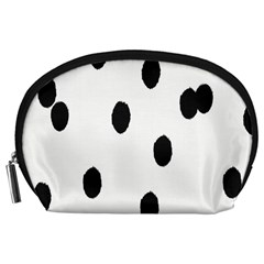 Gold Polka Dots Dalmatian Accessory Pouches (large)