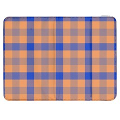 Fabric Colour Orange Blue Samsung Galaxy Tab 7  P1000 Flip Case by Jojostore