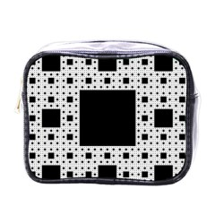 Hole Plaid Mini Toiletries Bags
