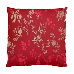 Leaf Flower Red Standard Cushion Case (one Side) by Jojostore