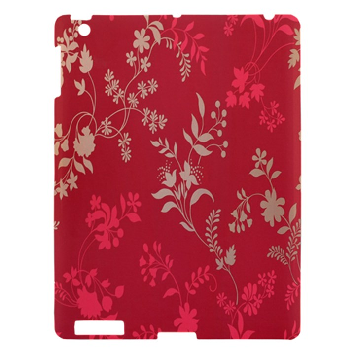 Leaf Flower Red Apple iPad 3/4 Hardshell Case