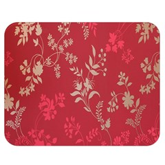 Leaf Flower Red Double Sided Flano Blanket (medium)