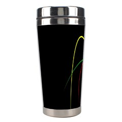 Line Red Yellow Green Stainless Steel Travel Tumblers by Jojostore