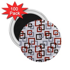 Links Rust Plaid Grey Red 2 25  Magnets (100 Pack)  by Jojostore