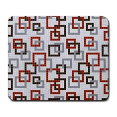 Links Rust Plaid Grey Red Large Mousepads by Jojostore