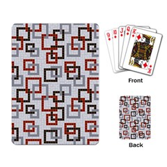 Links Rust Plaid Grey Red Playing Card by Jojostore