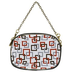 Links Rust Plaid Grey Red Chain Purses (one Side)  by Jojostore