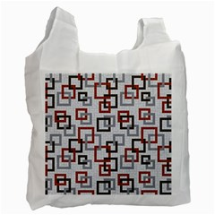 Links Rust Plaid Grey Red Recycle Bag (one Side) by Jojostore