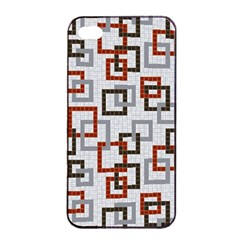 Links Rust Plaid Grey Red Apple Iphone 4/4s Seamless Case (black) by Jojostore