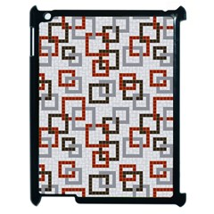 Links Rust Plaid Grey Red Apple Ipad 2 Case (black) by Jojostore