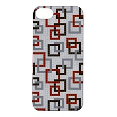Links Rust Plaid Grey Red Apple Iphone 5s/ Se Hardshell Case by Jojostore