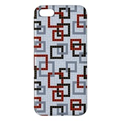 Links Rust Plaid Grey Red Iphone 5s/ Se Premium Hardshell Case by Jojostore