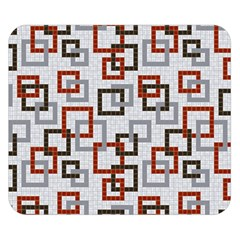 Links Rust Plaid Grey Red Double Sided Flano Blanket (small)  by Jojostore