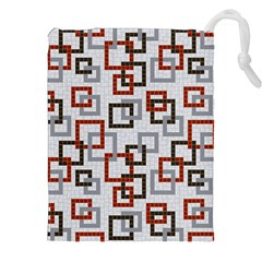 Links Rust Plaid Grey Red Drawstring Pouches (xxl)