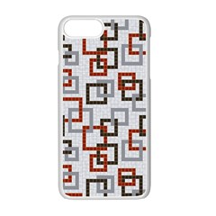 Links Rust Plaid Grey Red Apple Iphone 7 Plus White Seamless Case