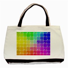 Number Alphabet Plaid Basic Tote Bag (two Sides) by Jojostore