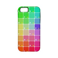 Number Alphabet Plaid Apple Iphone 5 Classic Hardshell Case (pc+silicone) by Jojostore