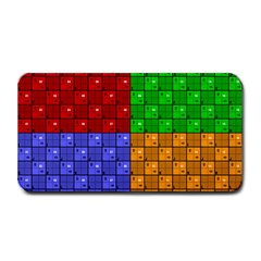 Number Plaid Colour Alphabet Red Green Purple Orange Medium Bar Mats by Jojostore