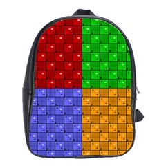Number Plaid Colour Alphabet Red Green Purple Orange School Bags(large)  by Jojostore