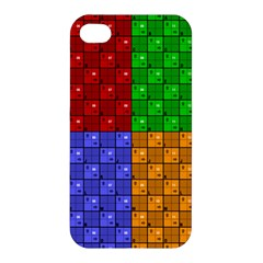 Number Plaid Colour Alphabet Red Green Purple Orange Apple Iphone 4/4s Premium Hardshell Case by Jojostore