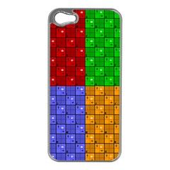 Number Plaid Colour Alphabet Red Green Purple Orange Apple Iphone 5 Case (silver) by Jojostore