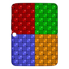 Number Plaid Colour Alphabet Red Green Purple Orange Samsung Galaxy Tab 3 (10 1 ) P5200 Hardshell Case  by Jojostore