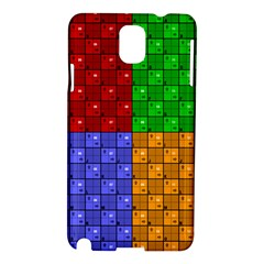 Number Plaid Colour Alphabet Red Green Purple Orange Samsung Galaxy Note 3 N9005 Hardshell Case by Jojostore