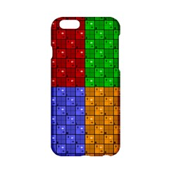 Number Plaid Colour Alphabet Red Green Purple Orange Apple Iphone 6/6s Hardshell Case by Jojostore