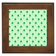 Palm Tree Coconoute Green Sea Framed Tiles by Jojostore