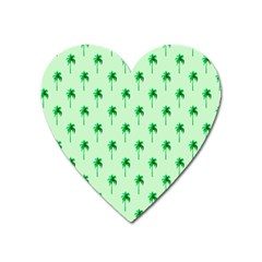 Palm Tree Coconoute Green Sea Heart Magnet by Jojostore