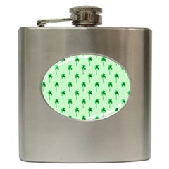 Palm Tree Coconoute Green Sea Hip Flask (6 Oz) by Jojostore