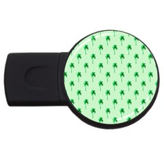 Palm Tree Coconoute Green Sea Usb Flash Drive Round (4 Gb) by Jojostore