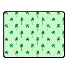 Palm Tree Coconoute Green Sea Fleece Blanket (small) by Jojostore