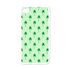 Palm Tree Coconoute Green Sea Apple Iphone 4 Case (white)