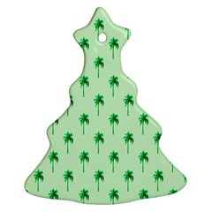 Palm Tree Coconoute Green Sea Christmas Tree Ornament (two Sides) by Jojostore
