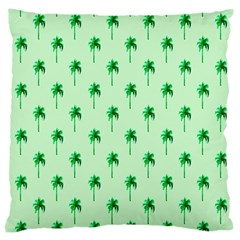 Palm Tree Coconoute Green Sea Large Cushion Case (two Sides) by Jojostore