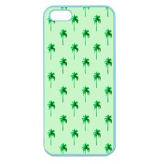 Palm Tree Coconoute Green Sea Apple Seamless Iphone 5 Case (color) by Jojostore